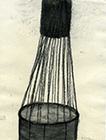 Untitled, 2001, charcoal on paper, 20x14,7cm