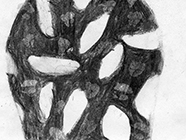 Untitled, 2007, charcoal on paper, 14,7x19,5cm